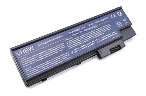 Batterie LI-ION 4400mAh 14.8V Noir Compatible pour Acer remplace BT.00803.014, LC.BTP01.013, LC.BTP01.014, 4UR18650F-2-QC218