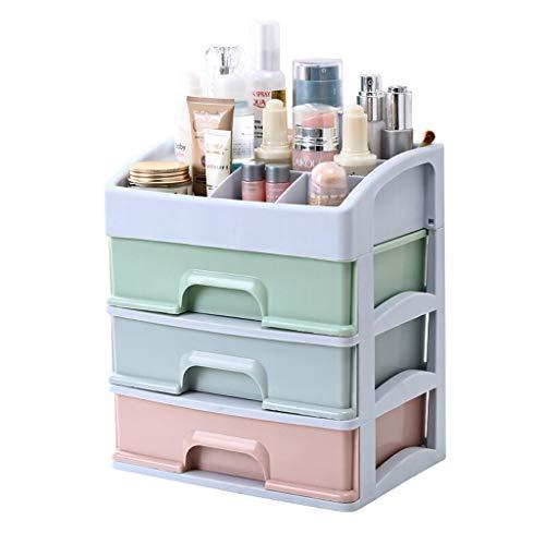 XGG Beautify Acrylique Cosmétique Organisateur Cas Table De Stockage Cadre De Support pour Maquillage - Support De Boîte De Vanity Clair avec 3 Tiroirs,A
