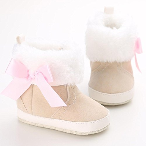 BZLine® Baby Schneestiefel Krippe Schuhe Stiefel Kinderschuhe Khaki