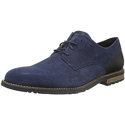 Rockport Ledge Hill Too Plain Toe Blucher, Zapatos de Cordones Derby Para Hombre, Azul-Blau (Vintage Indigo), 42 UE