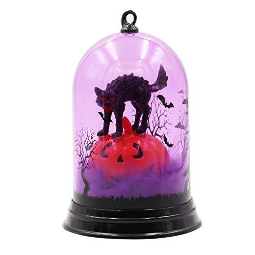 Xuba Stilvolle Halloween-Kürbis Hexe Lampe Hängelampe für Halloween Dekoration Katzenlicht