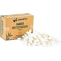 Pandoo 4 hisopos de algodón de bambú para bebés - 100% biodegradable, vegano y