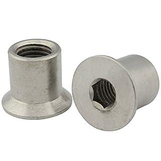 Hülsenmuttern mit Senkkopf und Innensechskant (ISK) - Antrieb - M5x15 - ( 2 Stück ) - aus rostfreiem Edelstahl A1 (VA) - NIRO - SC9062 | SC-Normteile®