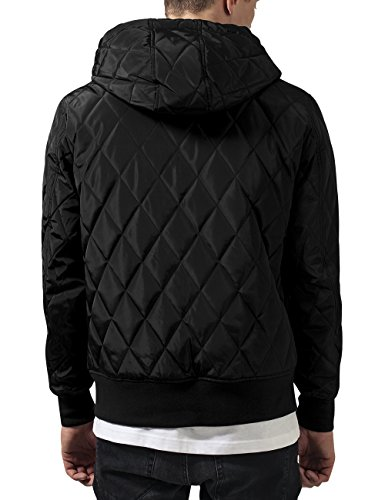 Urban Classics Hooded Big Diamond Quilt Jacket, Blouson Homme Noir - Noir (7)