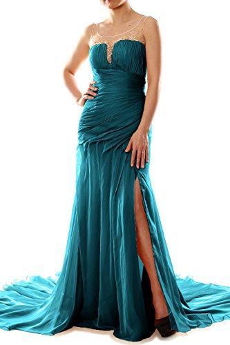 MACloth - Robe - Moulante - Sans Manche - Femme bleu sarcelle