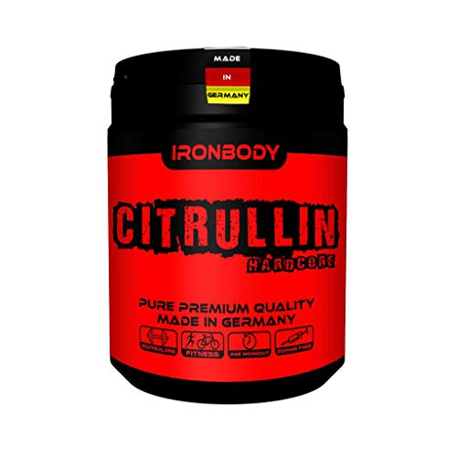 2 x Ironbody Citrullin Malate Hardcore, 500g Dose (Made in Germany!) (2er Pack)