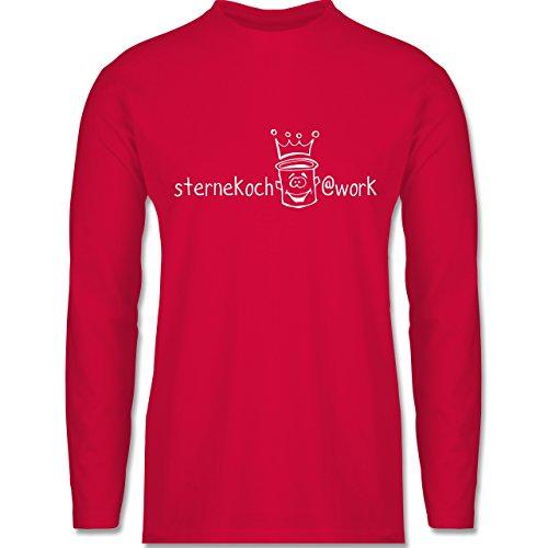 Shirtracer Küche - Sternekoch - Herren Langarmshirt Rot