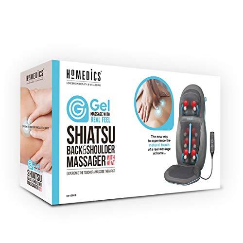 HoMedics SGM1600 Seduta Massaggiante Esclusivo Technogel, 12 Programmi di Massaggio, 79 x 46 cm