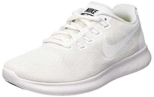 Nike Damen Free Rn 2017 Laufschuhe, Elfenbein (White/White/Black/Pure Platinum), 36 EU (Logo Force Air)