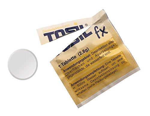 TOSIL fx Startpaket (25 Tabs/Tabletten) – Desinfektionsmittel, wirksam gegen Bakterien, Viren, Pilze & Parasiten (Giardien & Kokzidien), Wirkstoff: Chloramin-T - 3