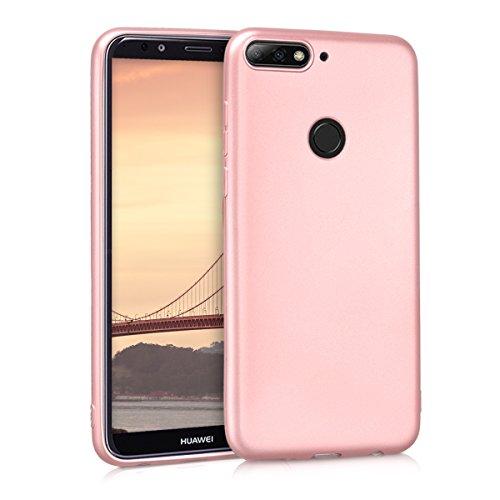 kwmobile Huawei Y7 (2018)/Y7 Prime (2018) Hülle - Handyhülle für Huawei Y7 (2018)/Y7 Prime (2018) - Handy Case in Metallic Rosegold
