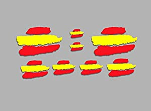 PEGATINAS BANDERAS DE ESPAÑA F207 STICKERS AUFKLEBER DECALS MOTO MOTO GP BIKE COCHE (COLORES BANDERA ESPAÑA/ SPAIN FLAG COLORS)