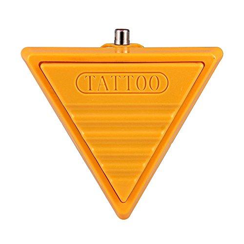 FACILLA® Jaune Triangle Interrupteur pédale pied tatouage pour pédale pour machine à tatouer