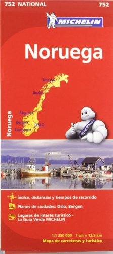Mapa National Noruega (Mapas National Michelin) por Vv.Aa