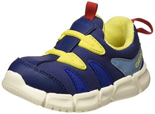 Geox B FLEXYPER Boy F, Zapatillas para Bebés, Blue (Navy/Yellow C0657), 21...