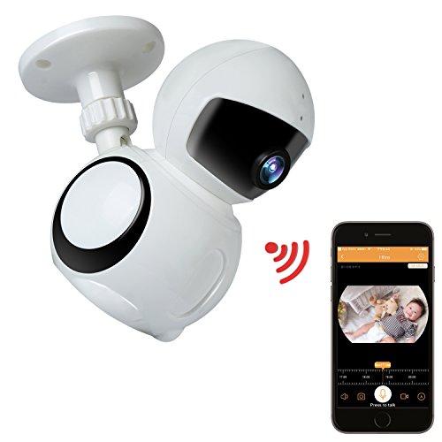 HotchFire IP Kamera HD 1080P mit APP Wlan Überwachungskamera Sicherheit Kamera Wi-Fi Kamera Kabellos Videoüberwachung mit IR Nachtsicht Bewegungsmelder Gegensprechfunktion für Baby Haustier