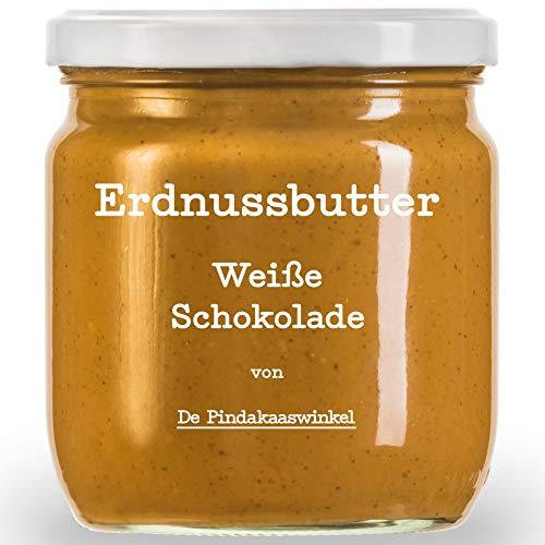 Die Leckerste Erdnussbutter in Acht Unwiderstehlichen Geschmäckern | Nachhaltige & 100% Natürliche Peanut Butter 420ml (Weiße Schokolade). 2 Töpfe