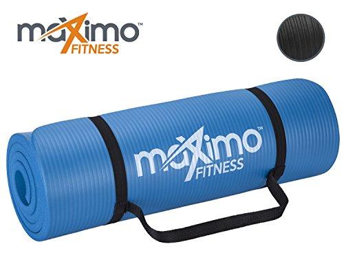 Tapis d'entrainement extra épais - Tapis de Gym antidérapant de première qualité - multi fonctionnel - 183cm Longueur x 60cm Largeur x 1.5cm Épaisseur - Parfait pour Pilates, Exercices au Sol, Gym. (Blue)