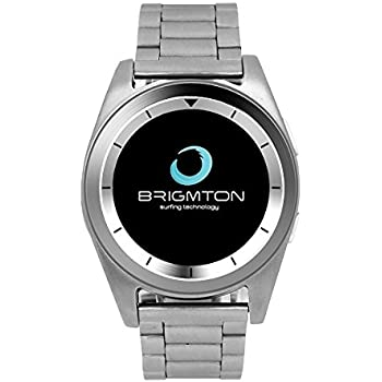 "Brigmton BWATCH-BT6 1.2"" IPS Plata reloj inteligente - relojes inteligentes (3,05 cm (1.2""), IPS, Pantalla táctil, 0,128 GB, 55 g, Plata)"