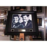 Laurel and Hardy autograph photo and film cell memorabilia