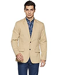 GAP Men's Notch Lapel Regular Fit Cotton Blazer