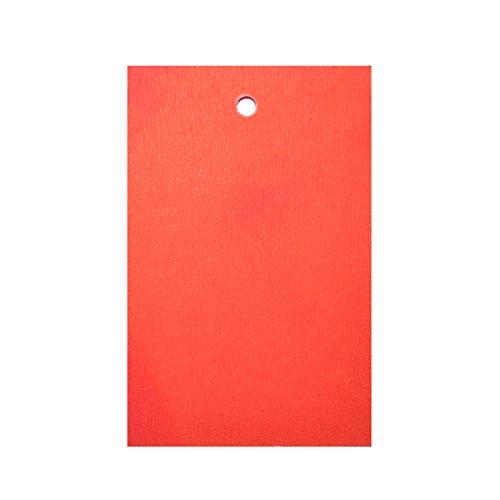 500 x Rot Preisschild Etikett Karte Hang Tag 70mm x 45mm