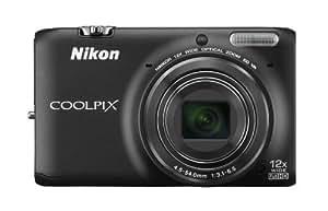 Nikon Coolpix S6500 Digitalkamera (16 Megapixel, 12-fach opt. Zoom, 7,6 cm (3 Zoll) LCD-Display, bildstabilisiert) schwarz