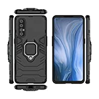 oppo reno 3 pro cover case with finger ring Black