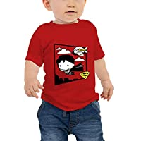 WarnerBros Baby Boys Justice League T-shirts, Red, 18-24 Months