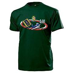 Idea Regalo - T-shirt G91con frecce tricolori dell'Aeronautica Militare, decoro dell'Aviazione Italiana, 313º gruppo di addestramento acrobatico aereo, modello 14150 verde Medium