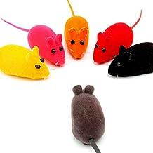 BADALink 6 pcs Juguetes para Mascotas Gato Perro, en Forma de Ratón y puede Sonar Sonido de Ratón Material de Franela y Caucho Blando (color aleatoriamente)