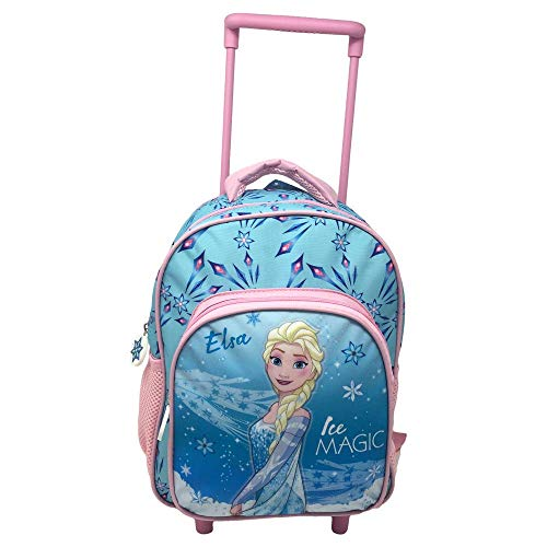 Zaino trolley frozen elsa disney asilo borsa 2 ruote scuola sagome 3d cm.36 - fr0452