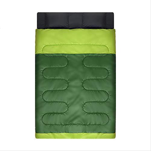 RTGFS Schlafsack Paar Doppelschlafsack Verbreitert Dicke Warme Outdoor Camping Indoor Mittagspause Erwachsene Doppelschlafsack aus Baumwolle Armee Grün/Obst Grün 2,4Kg - Coleman Damen Schlafsack
