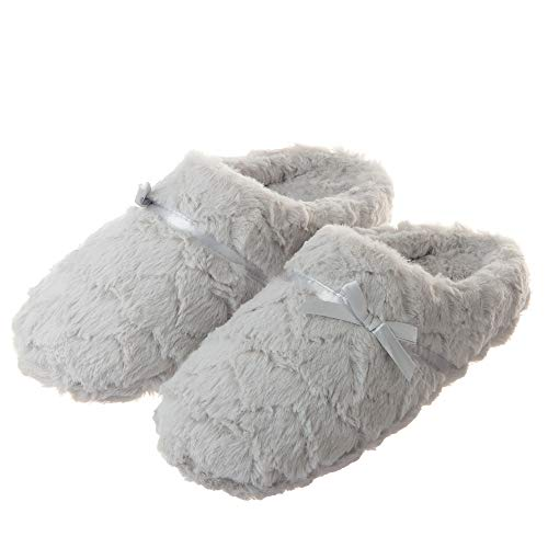 Tofern Womens Ultra Soft Fluffy Slippers Comfy Warm Memory Foam House Shoes with Mute Anti-Slip Sole for Ladies and Girls