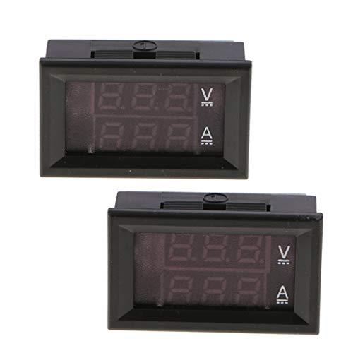 FLAMEER Mini LED Digital Voltmeter Amperemeter DC 0 100 V 0 20A Amp Voltmeter R/R + R/B