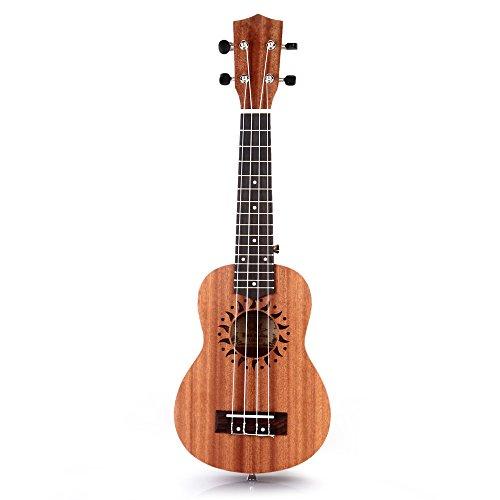 FACILLA 21' Ukulélé Ukulele Soprano Standard Instruments Cordes Hawaii 15...