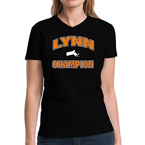 Eddany Lynn champion Damen V-Ausschnitt T-Shirt (Stadt Lynn M)
