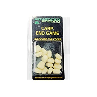 Advanced Angling Solutions Ltd Pop Up Nite Glow Corn 15 pieces Imitation Corn Carp Bait For Carp Fishing Rigs