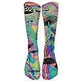 Skateboard boy Calze colorate a fungo per piante atletiche Calze da donna Uomo Classiche Calze alte al ginocchio Calza lunga sportiva Taglia unica 50cm