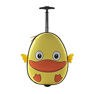 i-baby Zoo Little Kid and Toddler Travel Rolling Luggage, Duck