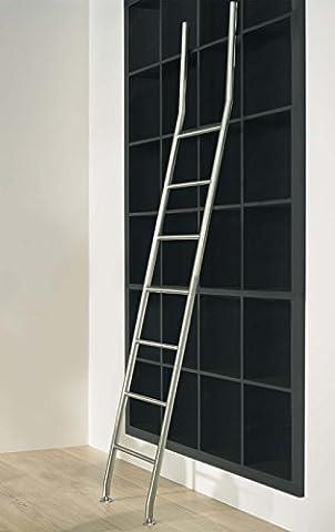 massiv Edelstahl Bibliotheksleiter Stufenleiter Bücher Regal Schrank Leiter 7 Sprossen (Anstellleiter)