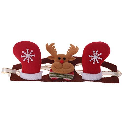 Mikiya Netter Haustier Weihnachtskopfschmuck Katze Weihnachtskleidkopfschmuck Haustierfeiertag Kleid herauf Kostüm (2#,M) (Fisch Stick Kostüm)