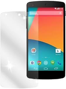 dipos LG Google Nexus 5 Schutzfolie (2 Stück) - kristallklare Premium Folie Crystalclear