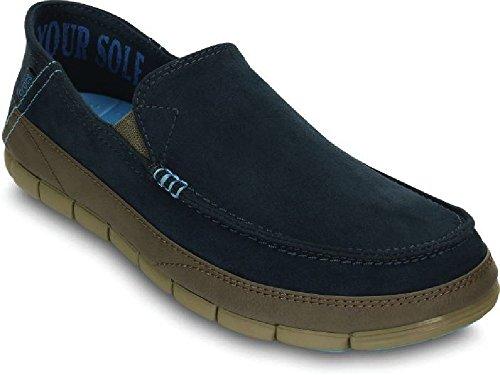 Microsuede Schuhe (Crocs Mens Stretch Sole Microsuede Loafer Nightfall/Khaki 41-42EU)