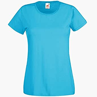Fruit of the Loom - Lady-Fit Valueweight T - Modell 2013 XS,Azure Blue