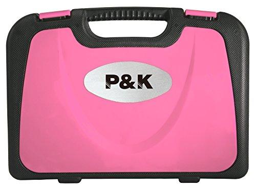 135 Teilig Werkzeugset Werkzeugkoffer Werkzeugkasten Pink Rosa - 4