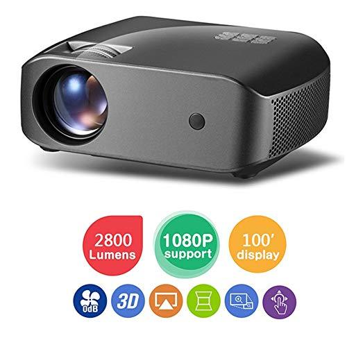 Multimedia-Spiel Videoprojektor, Heimkino-Full-HD-Filmprojektor, 2800L-Projektor für kommerzielle Zwecke PowerPoint-Präsentation, Kompatibel mit Laptop, Smartphone, HDMI, USB YZPTYY - Das Kommerzielle Spiel