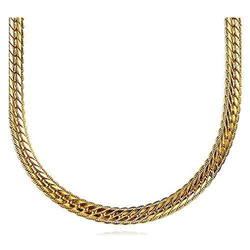 Cool collana placcata oro 18 K catena per uomo gioielli