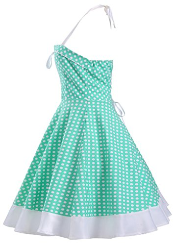 Eyekepper Robe de coctail Robe courte Femme / demoiselle - robes style petit pois - elegante vintage Vert