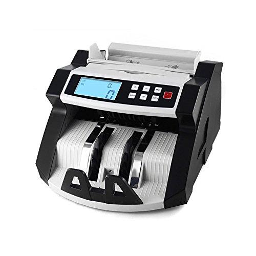 Aibecy Automático Multi Moneda Efectivo Billete de Banco Dinero Cuenta Mostrador Contand Máquina LCD Monitor con UV MG Falsificación Detector para EURO NOS Dólar AUD Libra